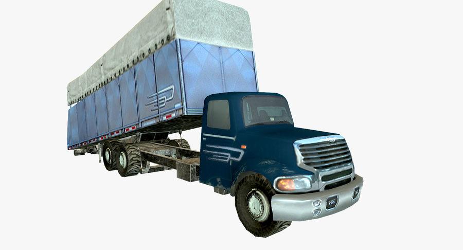 Ciężarówka z modułem Low Poly royalty-free 3d model - Preview no. 7