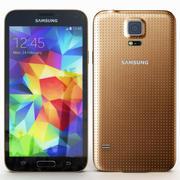 Samsung Galaxy S5 Gold modelo 3d