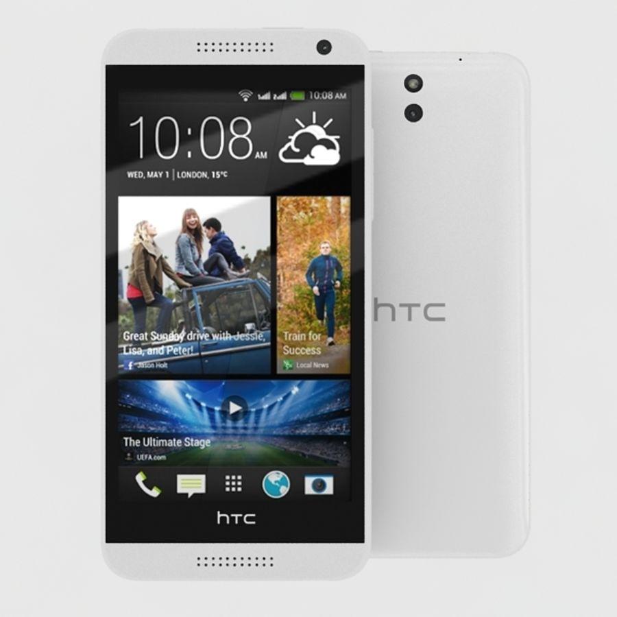 htc desire 610 royalty-free 3d model - Preview no. 2
