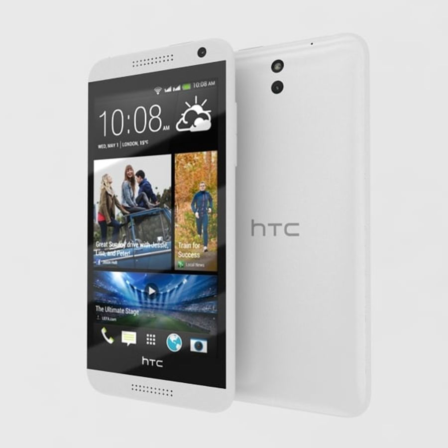 htc desire 610 royalty-free 3d model - Preview no. 4
