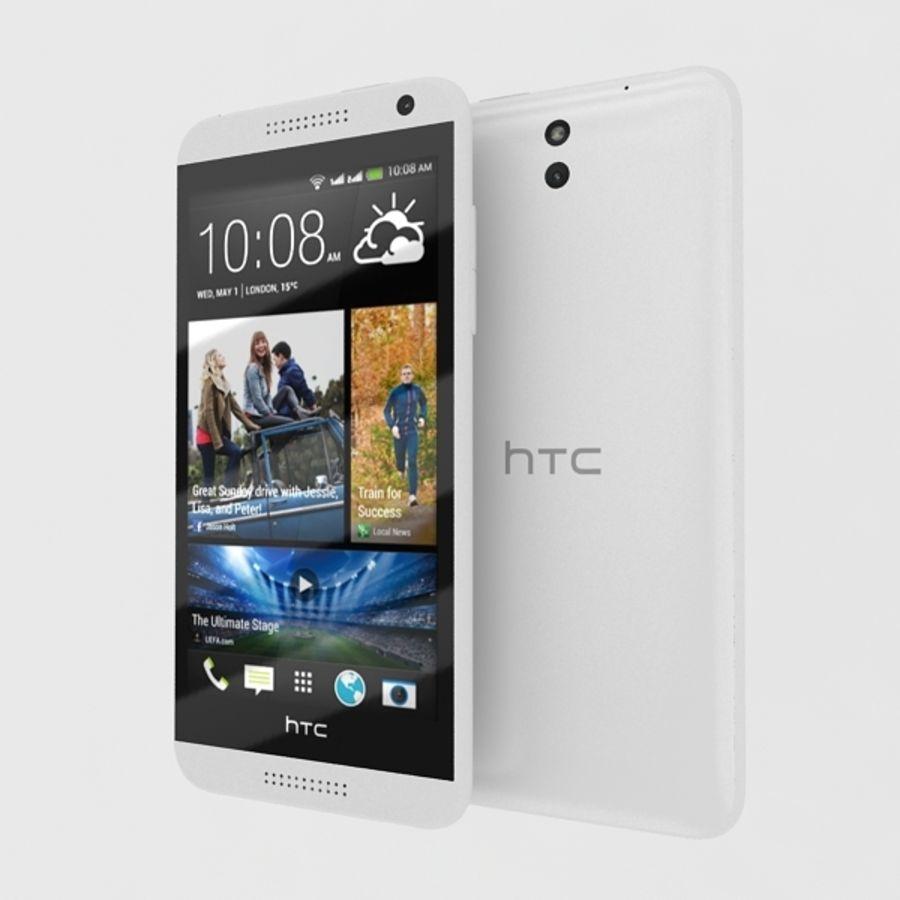 htc desire 610 royalty-free 3d model - Preview no. 4