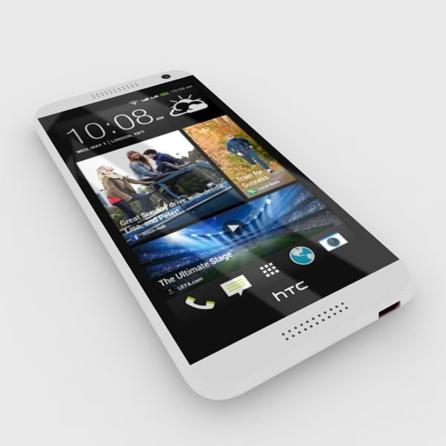 htc desire 610 royalty-free 3d model - Preview no. 5