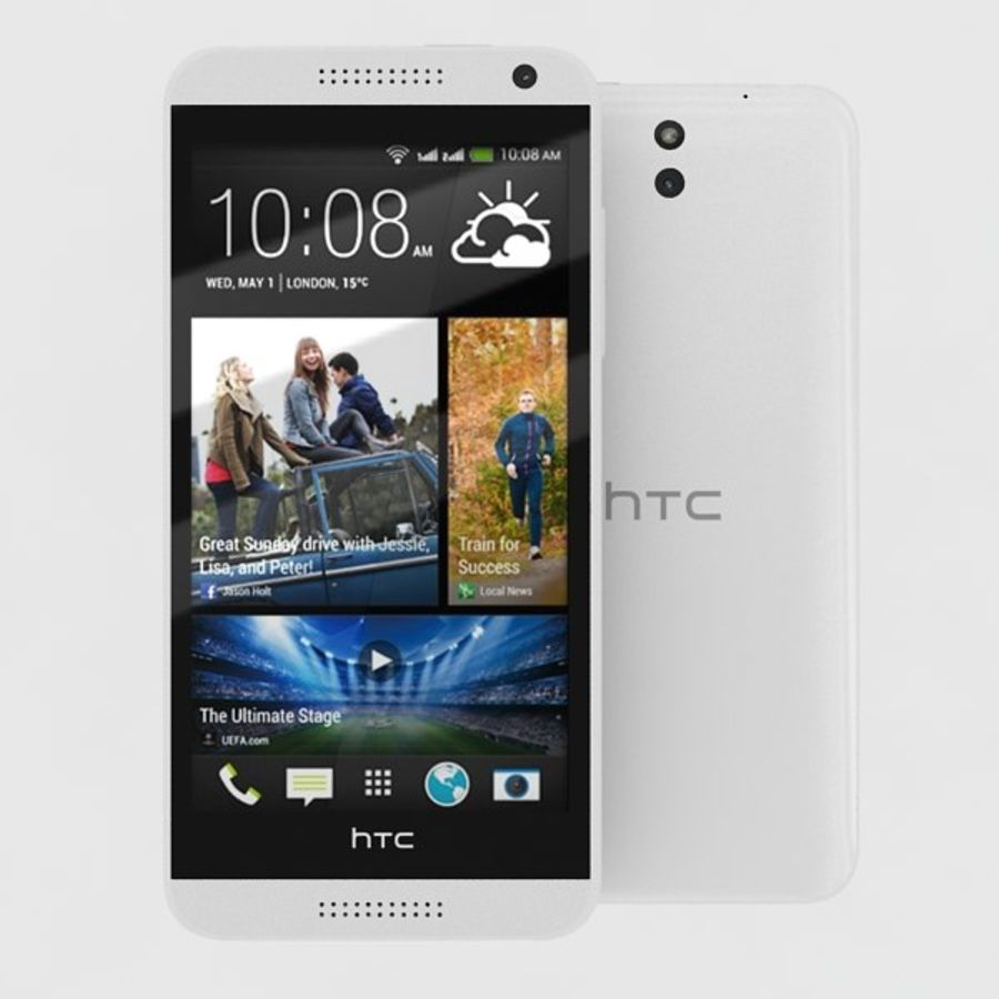 htc desire 610 royalty-free 3d model - Preview no. 2