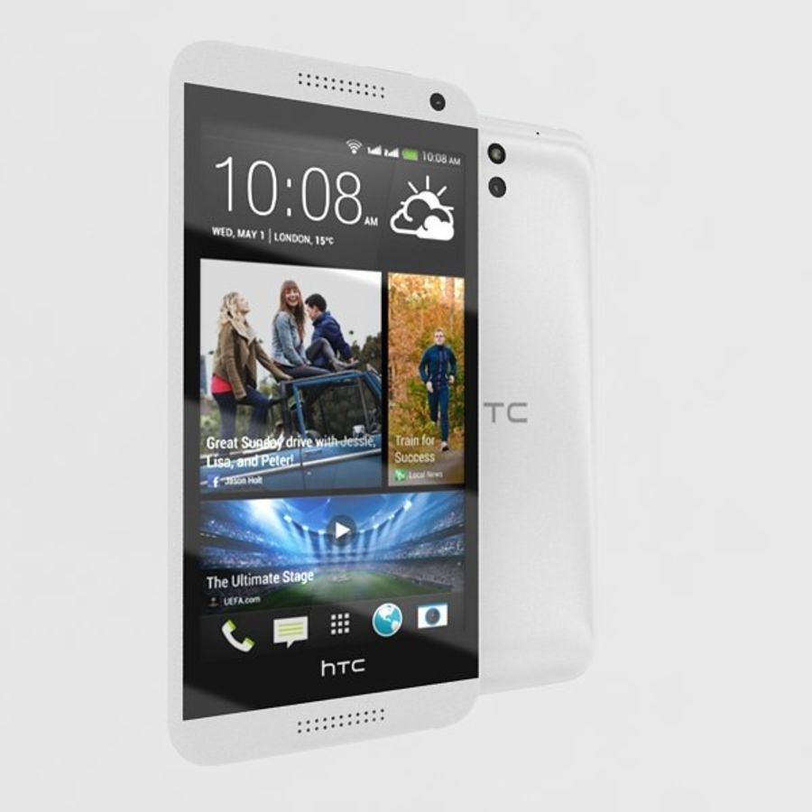 htc desire 610 royalty-free 3d model - Preview no. 3