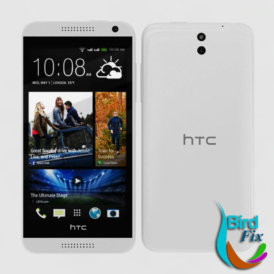 htc desire 610 royalty-free 3d model - Preview no. 1