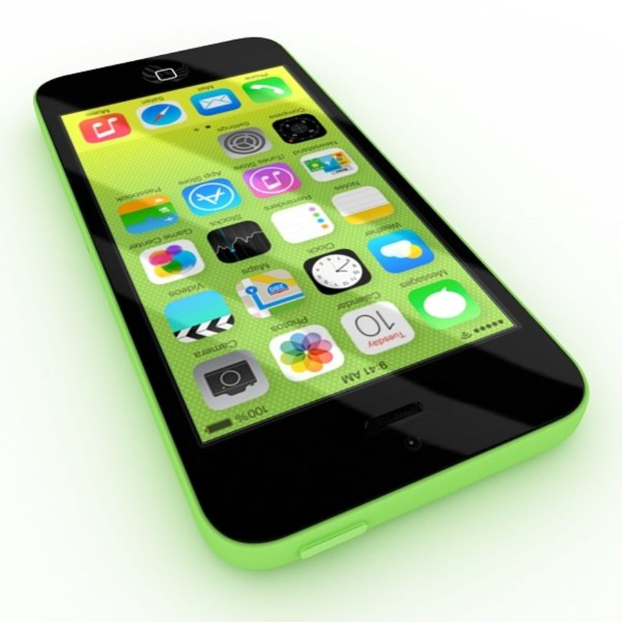 Apple Iphone 5c royalty-free 3d model - Preview no. 4