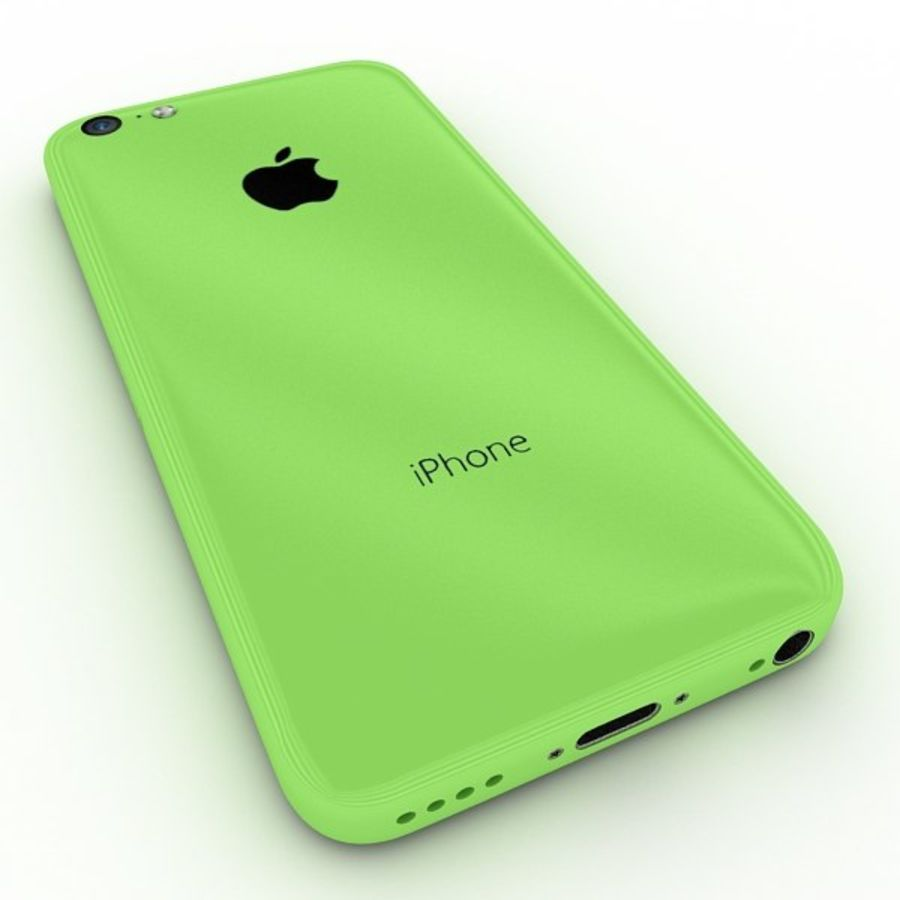Apple Iphone 5c royalty-free 3d model - Preview no. 6