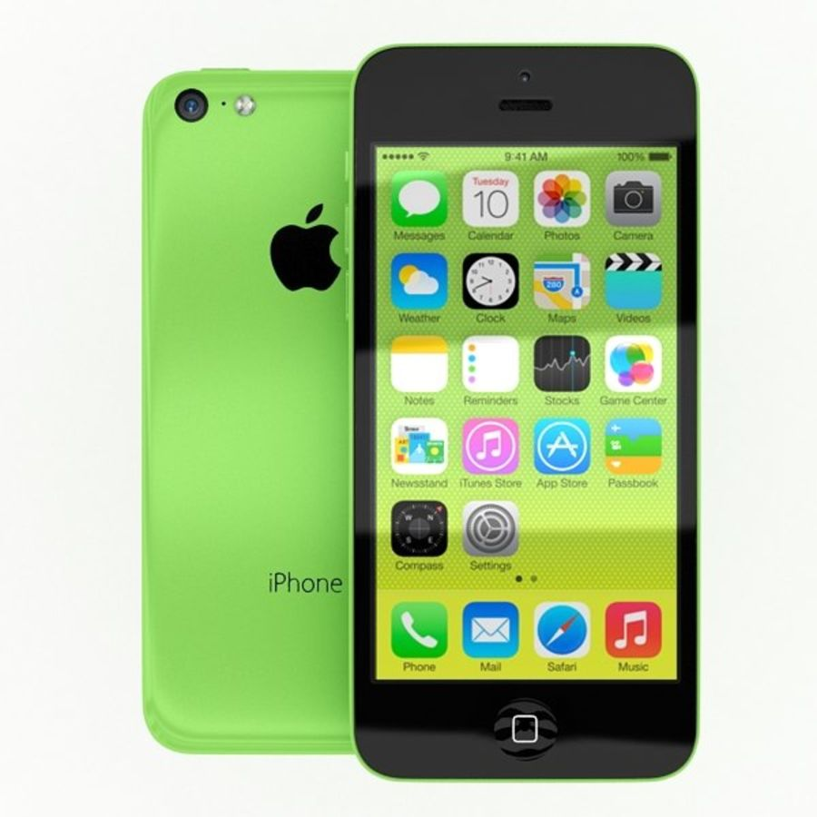 Apple Iphone 5c royalty-free 3d model - Preview no. 2