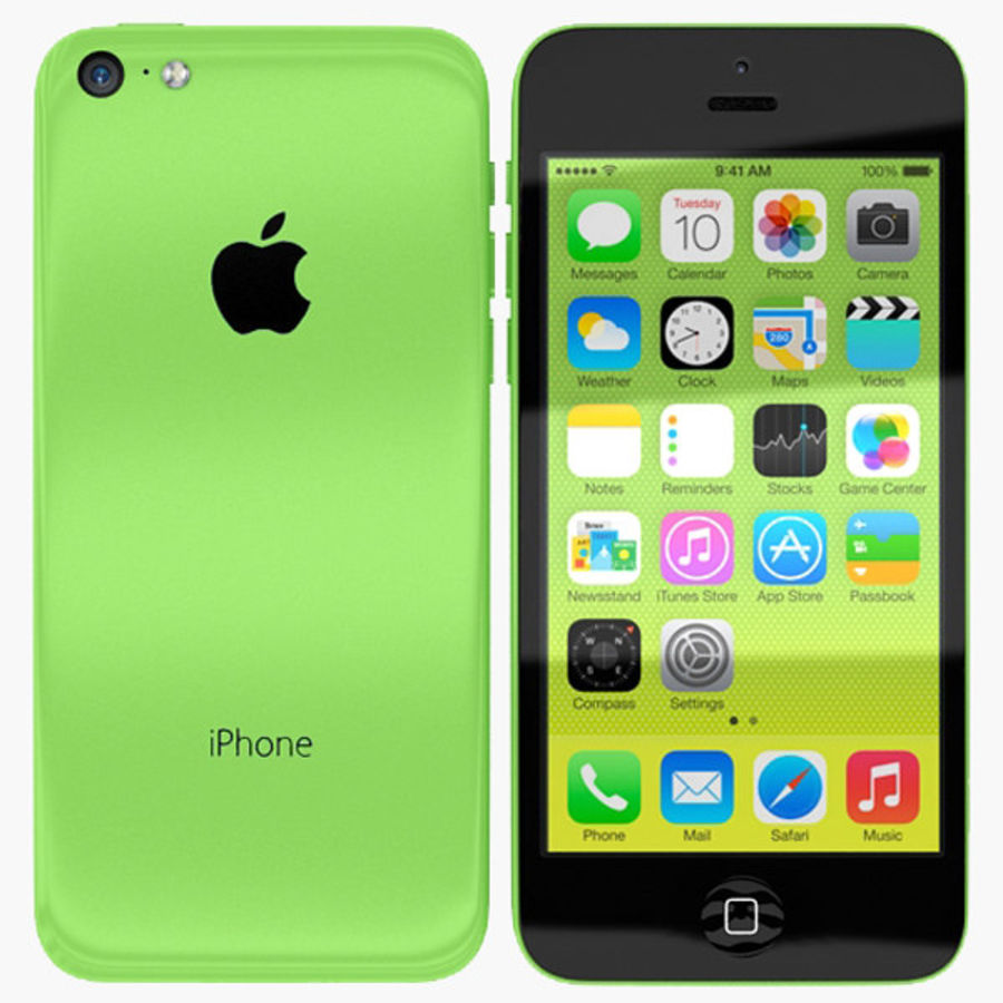 Apple Iphone 5c royalty-free 3d model - Preview no. 1