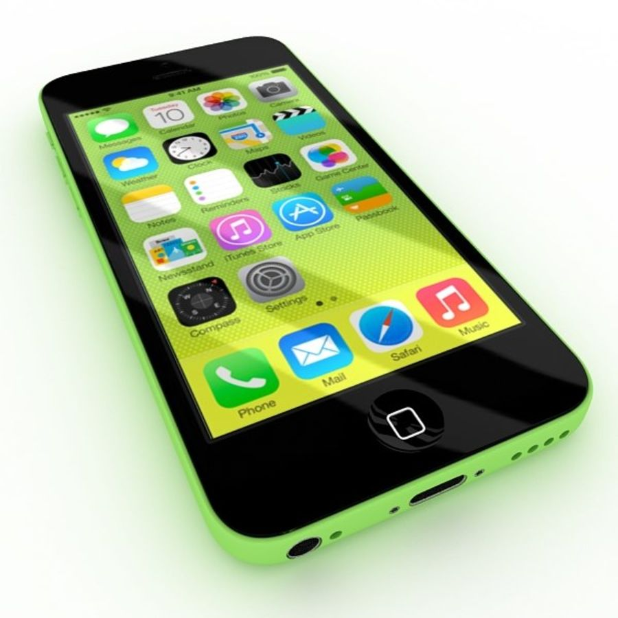 Apple Iphone 5c royalty-free 3d model - Preview no. 3