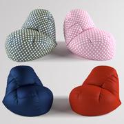 콩 가방 의자 3d model