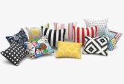 Set di cuscini Ikea 3d model