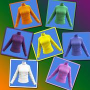 여성 모직 셔츠-터틀넥 3d model