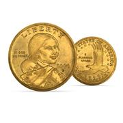 Dolar amerykański Sacagawea 3d model