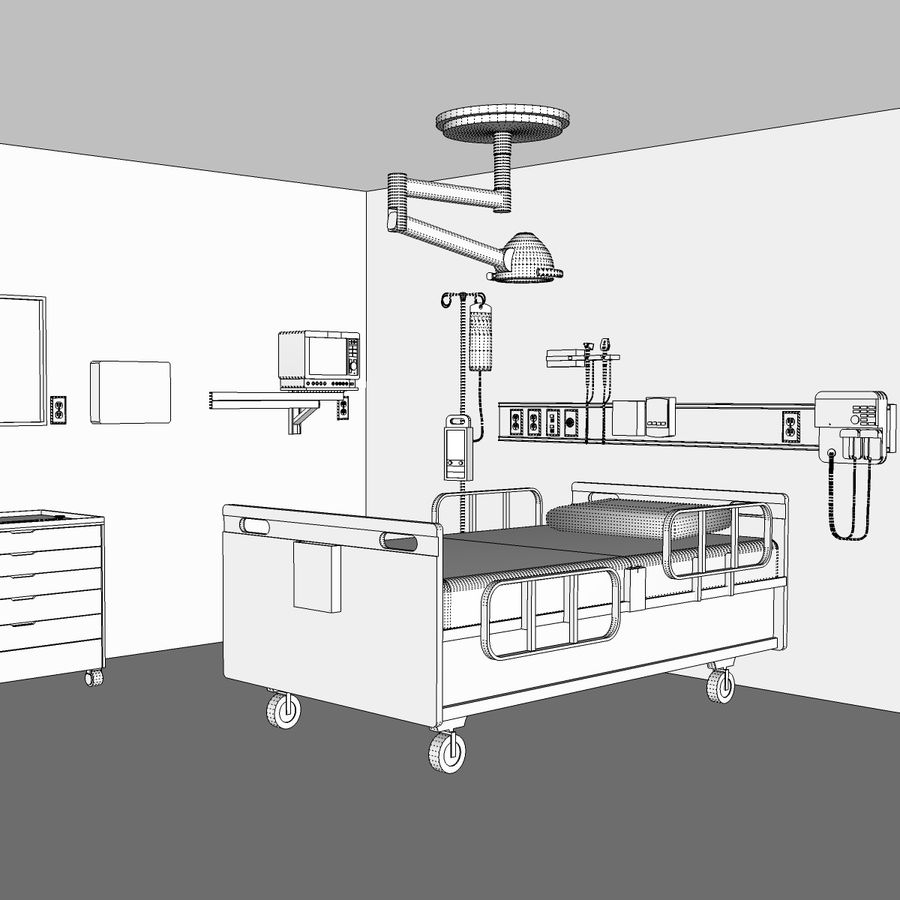 Hospital / Medical Equipment royalty-free 3d model - Preview no. 22
