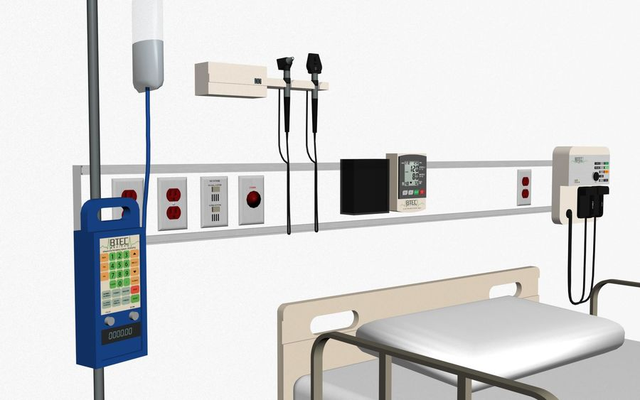 Hospital / Medical Equipment royalty-free 3d model - Preview no. 7