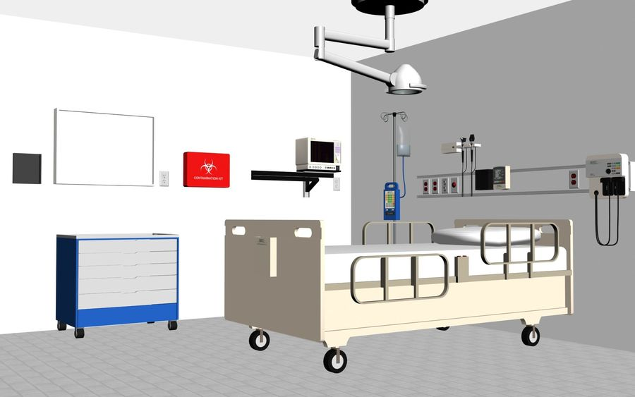 Hospital / Medical Equipment royalty-free 3d model - Preview no. 2