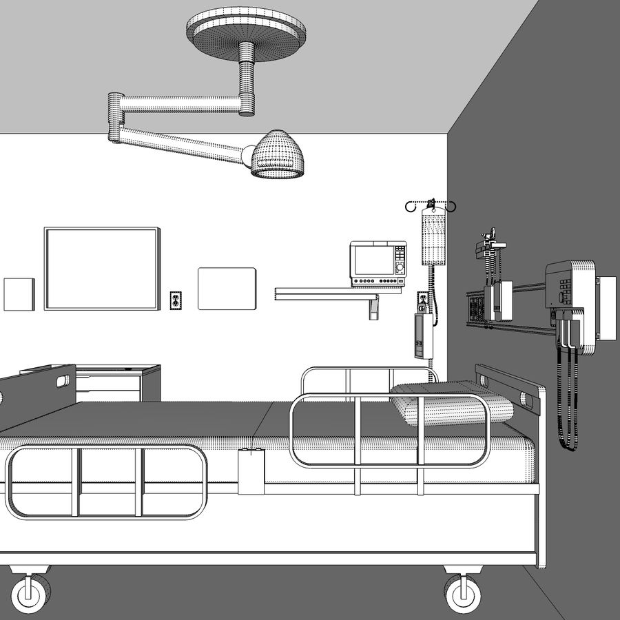 Hospital / Medical Equipment royalty-free 3d model - Preview no. 31
