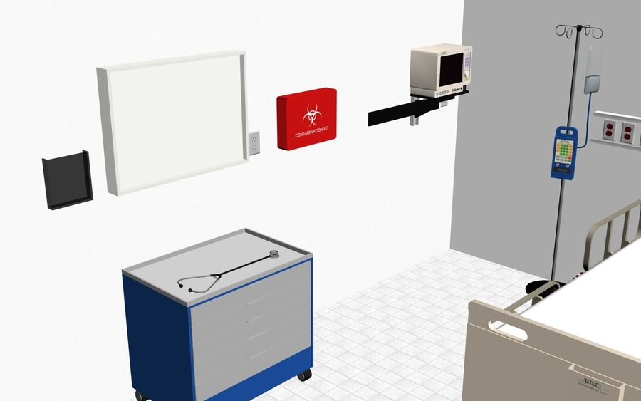 Hospital / Medical Equipment royalty-free 3d model - Preview no. 5