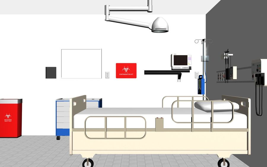 Hospital / Medical Equipment royalty-free 3d model - Preview no. 3
