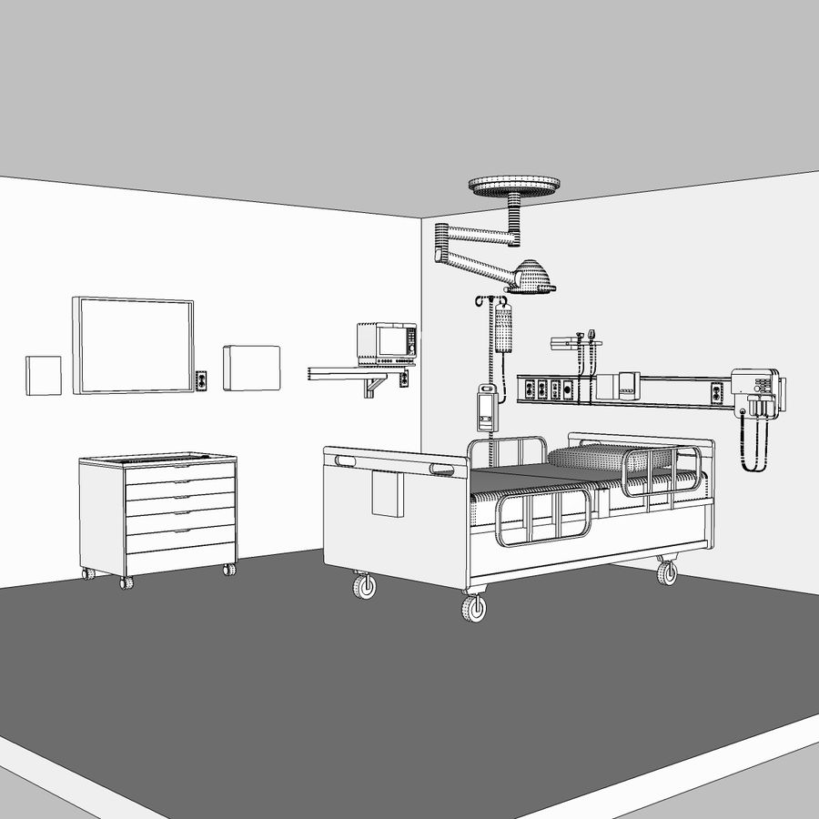 Hospital / Medical Equipment royalty-free 3d model - Preview no. 21