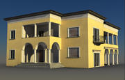 黄色别墅 3d model