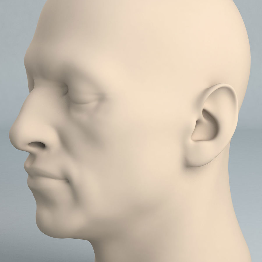 Cabeça masculina A royalty-free 3d model - Preview no. 2