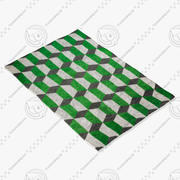 Suzanne scherp chiesa groen tapijt 3d model