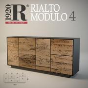 Träbrädan av venetiansk briccole ek Rialto MODULO 4 RIVA 1920 3d model