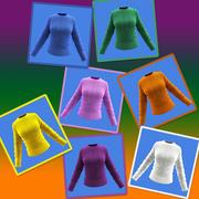 Female Woolen Shirt 3d model