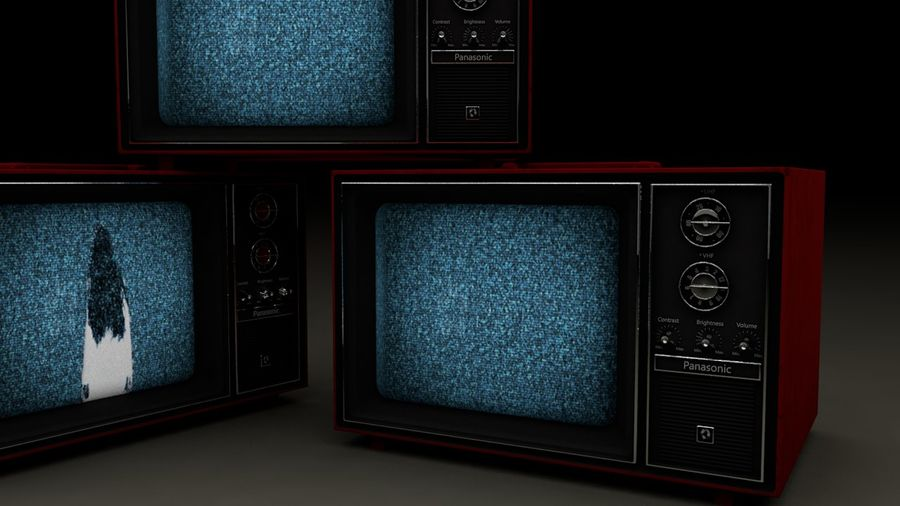 Old TV royalty-free 3d model - Preview no. 4