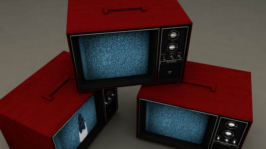 Gammal TV royalty-free 3d model - Preview no. 5