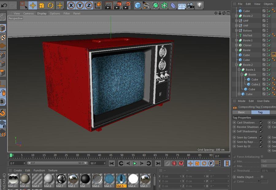 Gammal TV royalty-free 3d model - Preview no. 2
