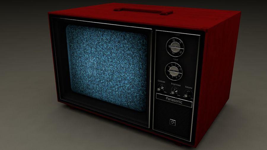 Gammal TV royalty-free 3d model - Preview no. 1