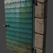 녹슨 지하실 문 3d model