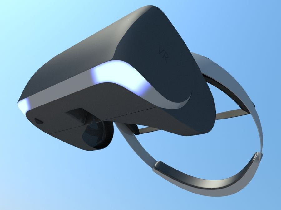 VR Gözlük royalty-free 3d model - Preview no. 2