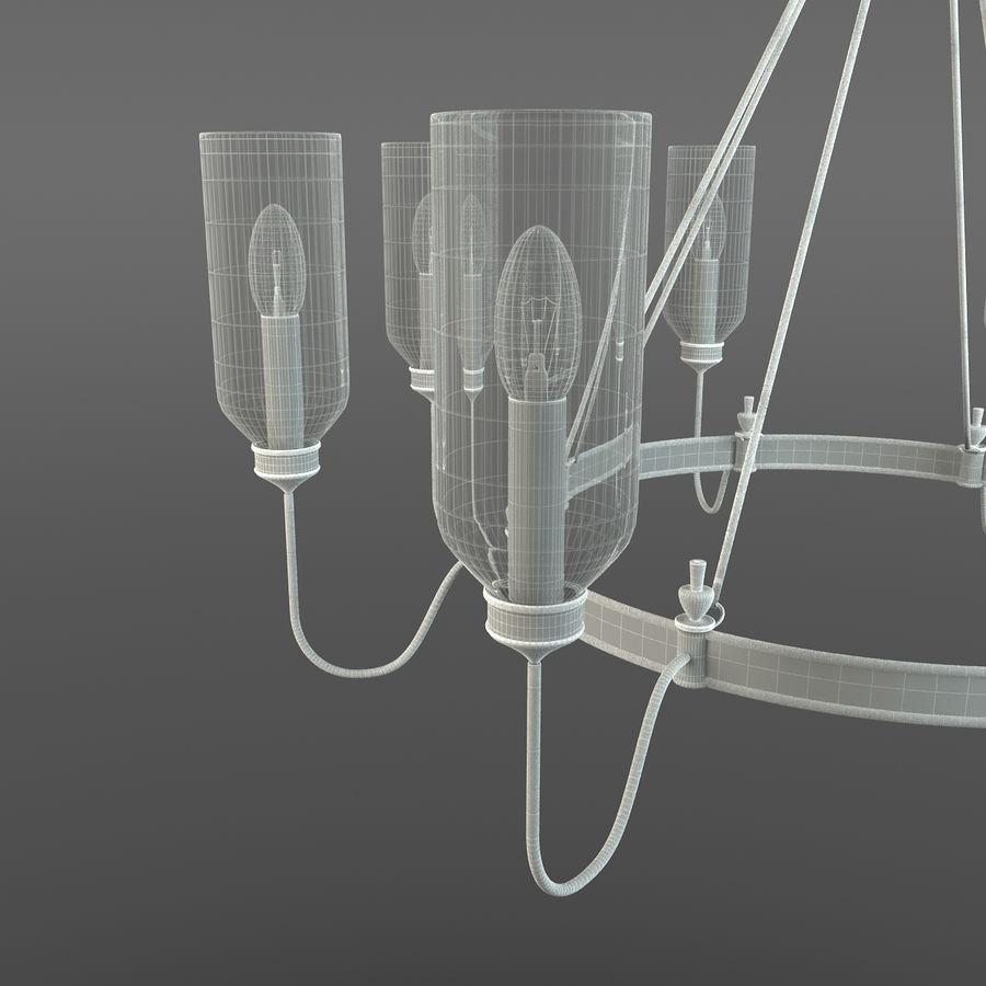 Elegancki żyrandol royalty-free 3d model - Preview no. 8