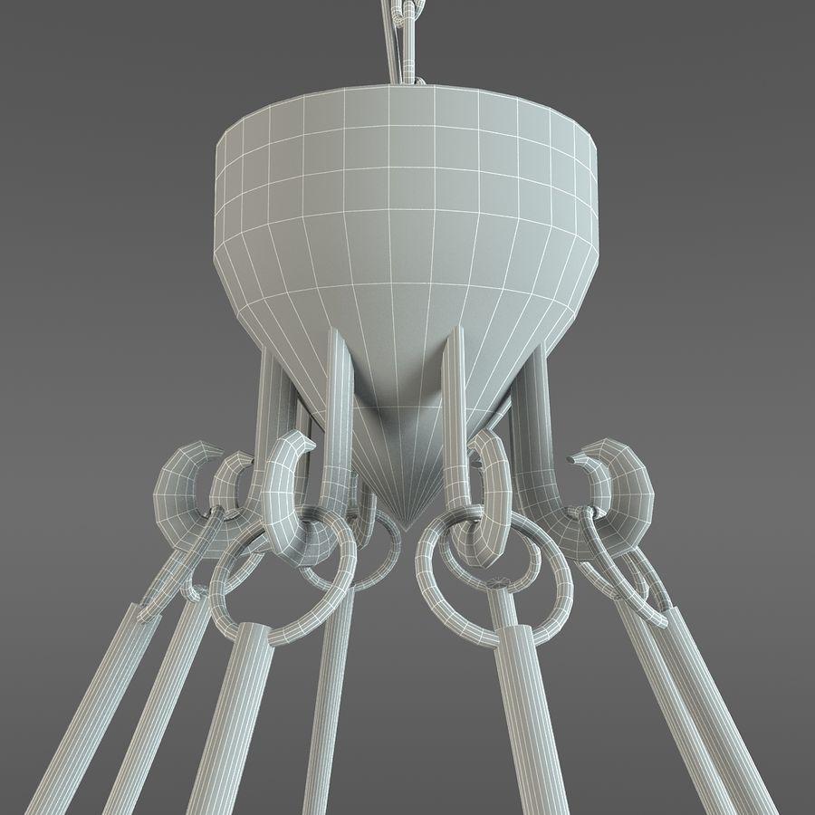 Elegancki żyrandol royalty-free 3d model - Preview no. 9