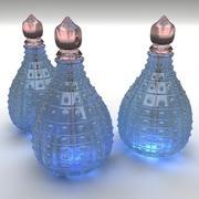 Blaues Parfüm 3d model