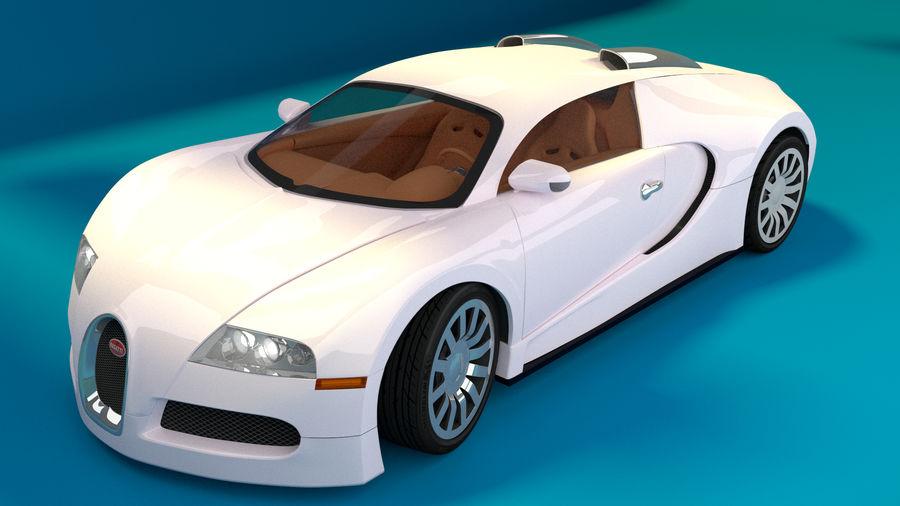 Bugatti Veyron royalty-free 3d model - Preview no. 2