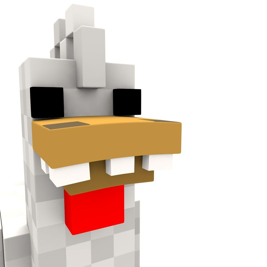 Minecraft Chicken royalty-free 3d model - Preview no. 1