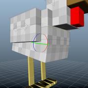 Poulet Minecraft 3d model
