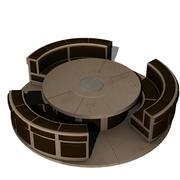 SciFi 테이블 및 좌석 공간 3d model