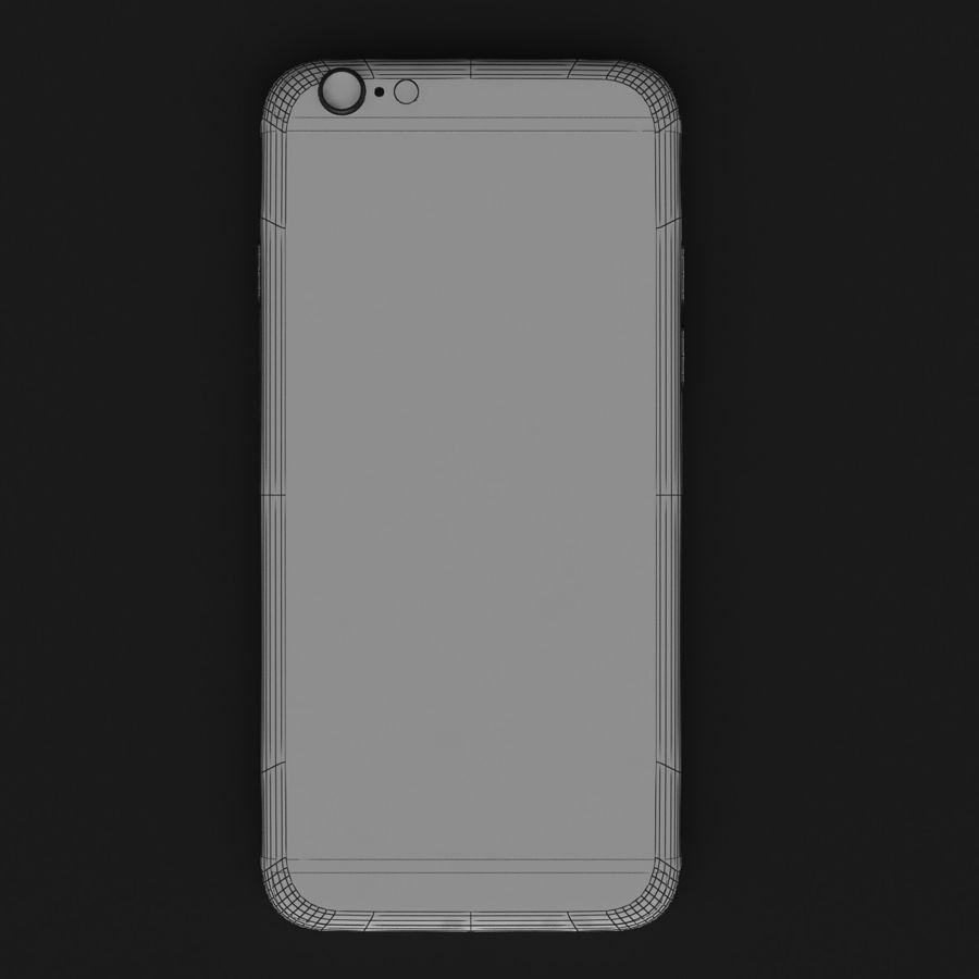 Apple iPhone 6 Gold royalty-free 3d model - Preview no. 7