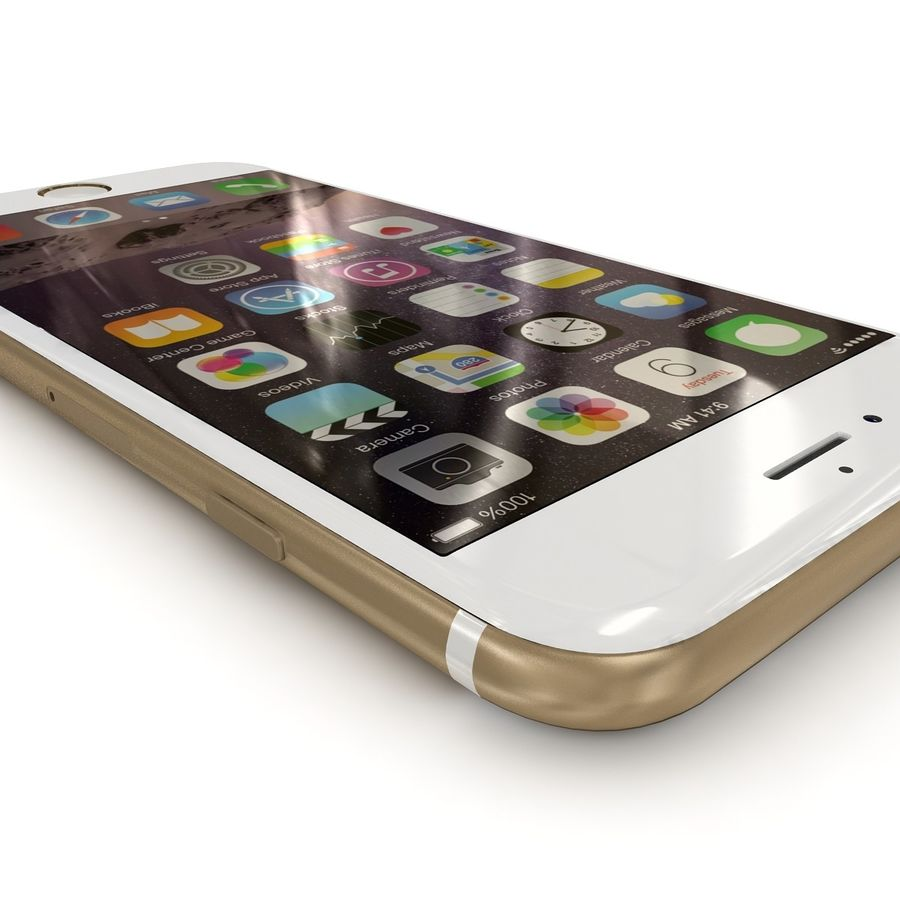 Apple iPhone 6 Gold royalty-free 3d model - Preview no. 5