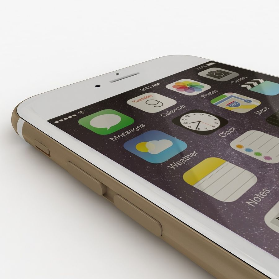 Apple iPhone 6 Gold royalty-free 3d model - Preview no. 2