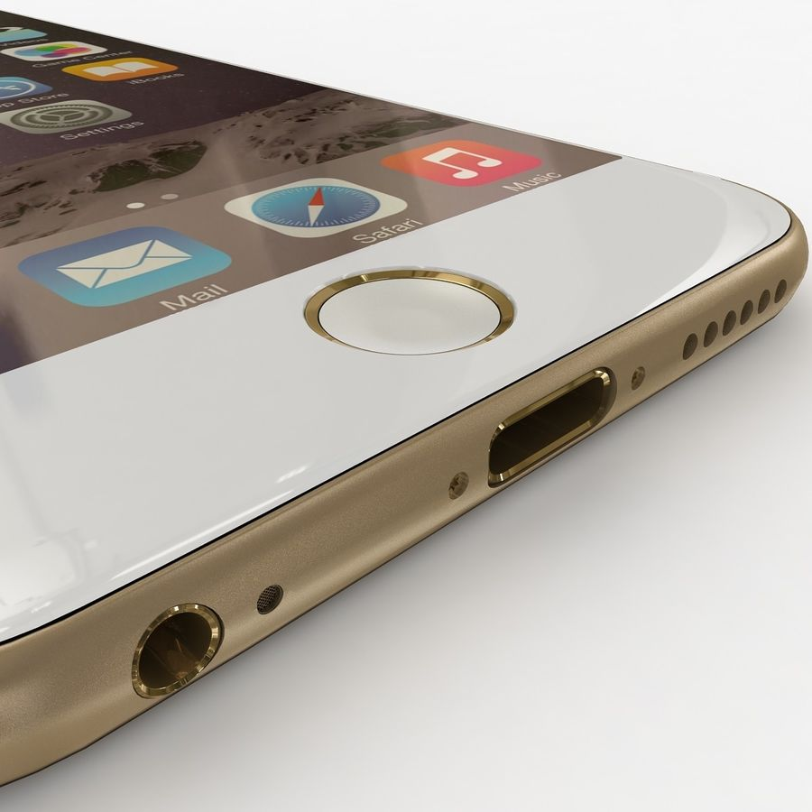 Apple iPhone 6 Gold royalty-free 3d model - Preview no. 3