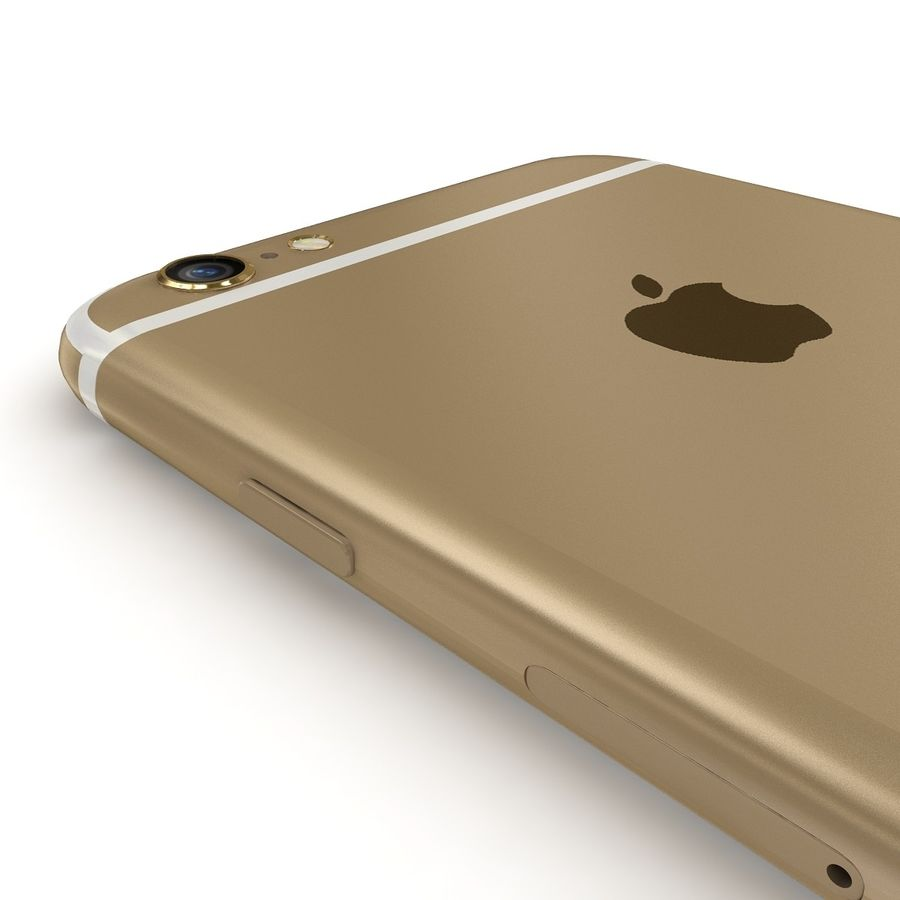 Apple iPhone 6 Gold royalty-free 3d model - Preview no. 6