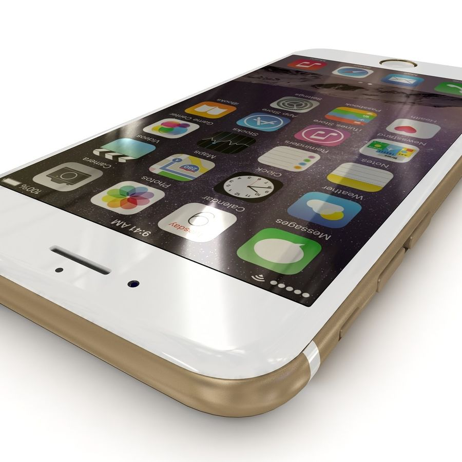 Apple iPhone 6 Gold royalty-free 3d model - Preview no. 4