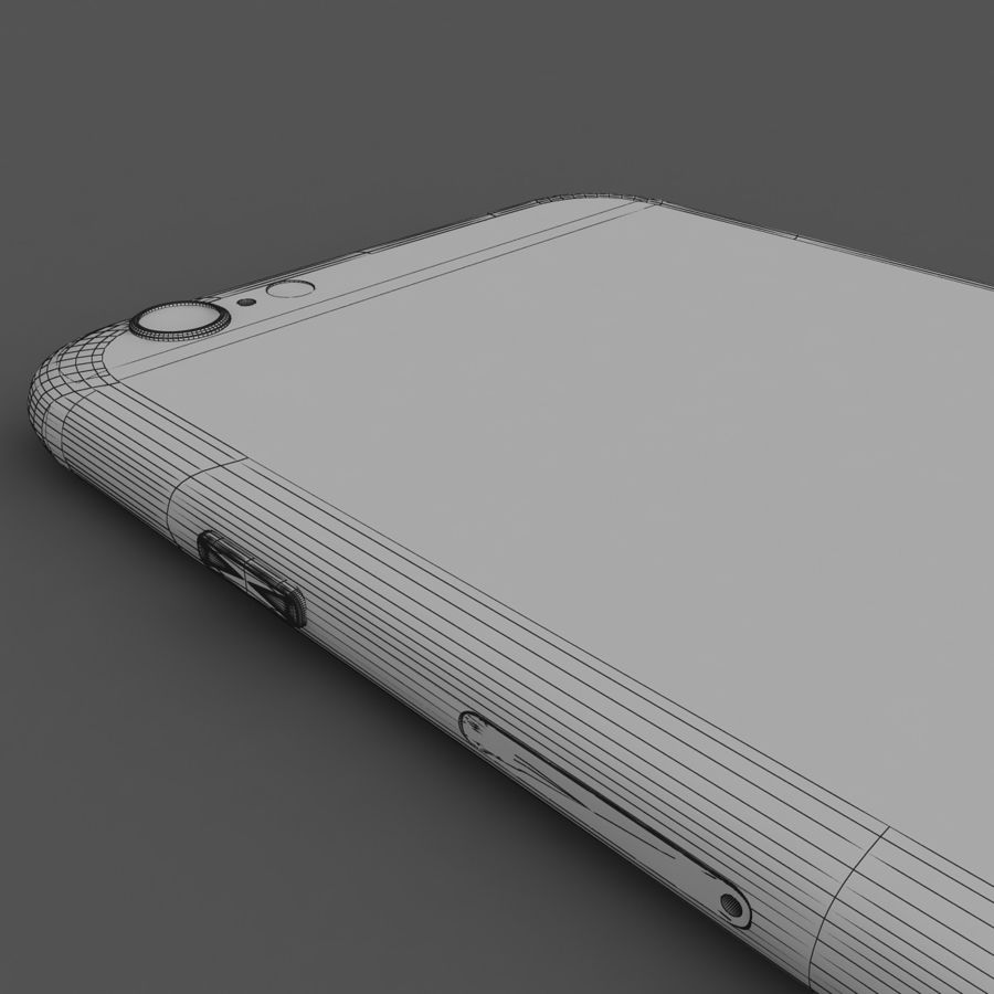 Apple iPhone 6 Gold royalty-free 3d model - Preview no. 8